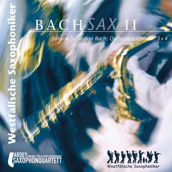 Westfälische Saxophoniker CD-Cover Bachsax II